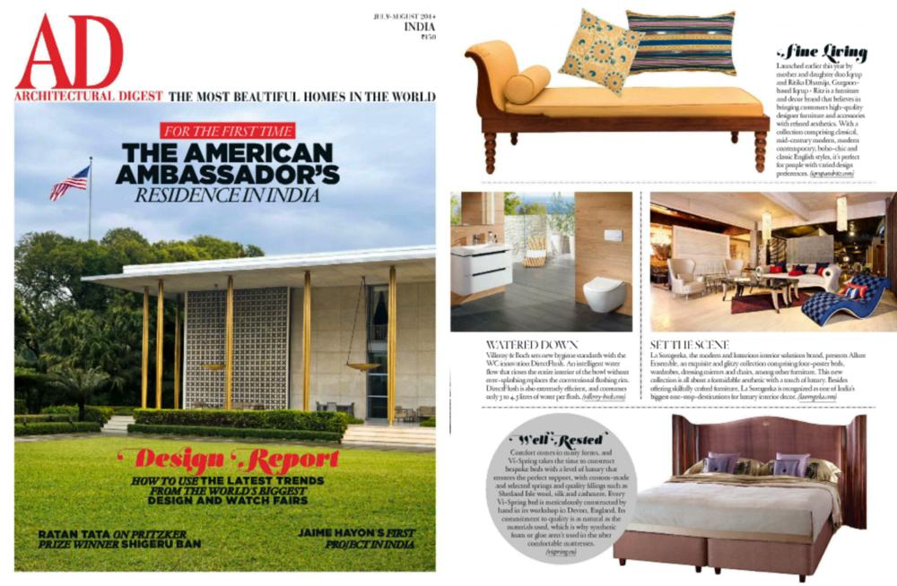 Architectural Digest June - Iqrup Ritz