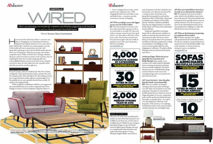 Architectural Digest India May June 2015   Iqrup + Ritz