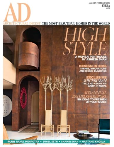 Architectural Digest January 2016
