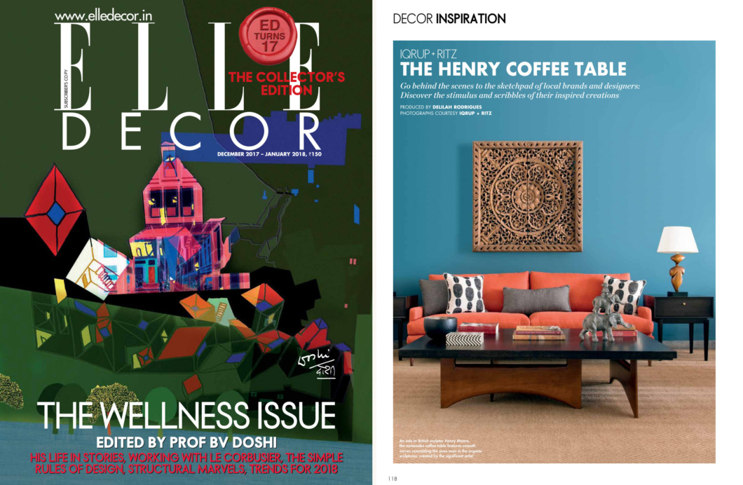 We Are Very Hy To Be Included In This Special Issue Of Elle Decor Celebrating 17 Years And Guest Edited By The One Only Giant Indian Architecture